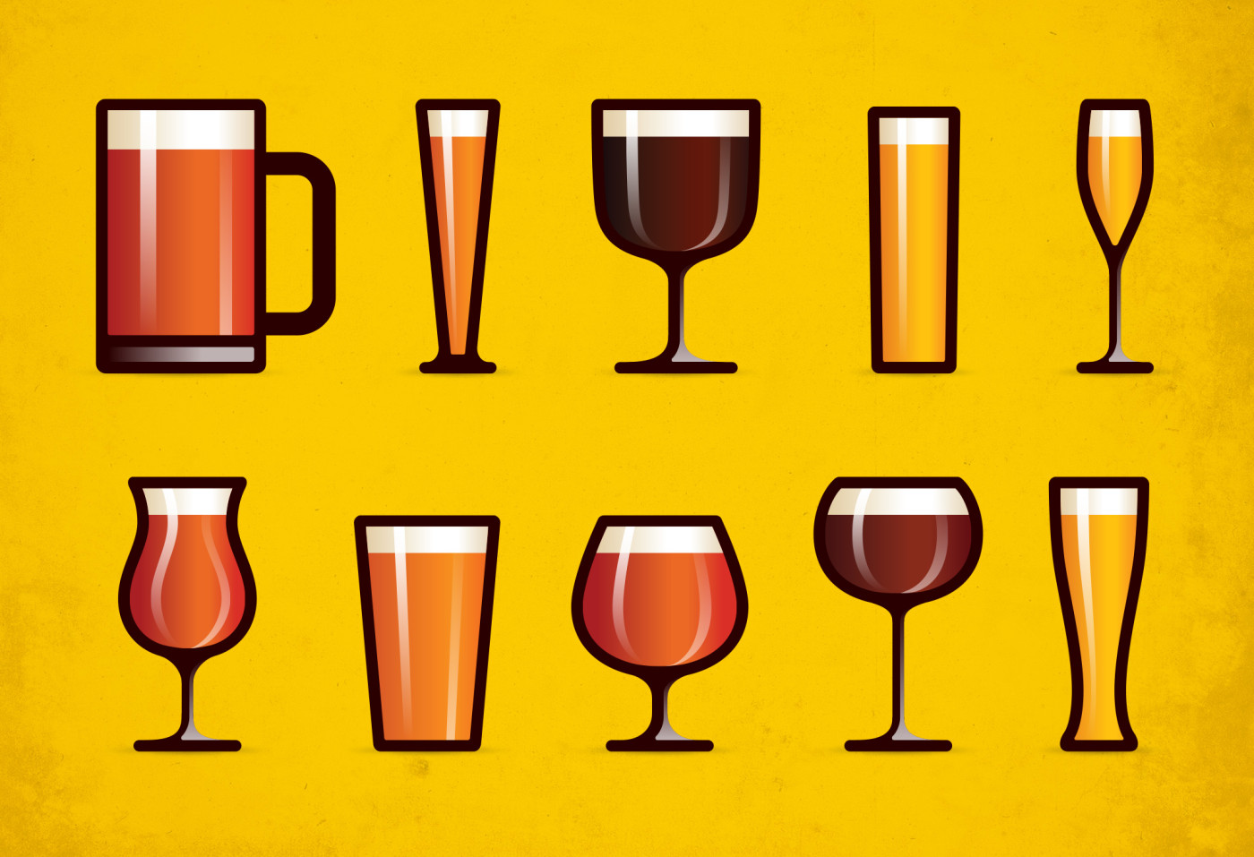 Beer-Glass-Icons